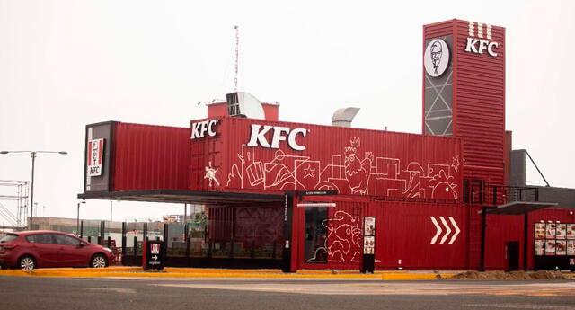 Local ecoamigable de KFC en Lurín.