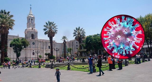 Alerta epidemiológica roja en Arequipa por coronavirus.