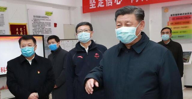 Presidente Chino, visito hospital y hablo con enfermos de coronavirus