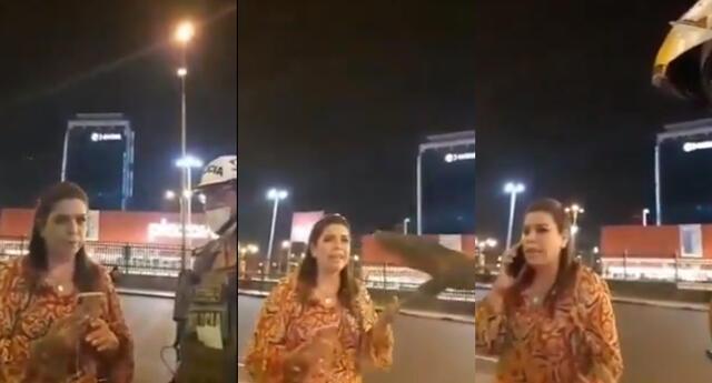 Milagros Leiva es intervenida por policía por no cumplir estado de emergencia