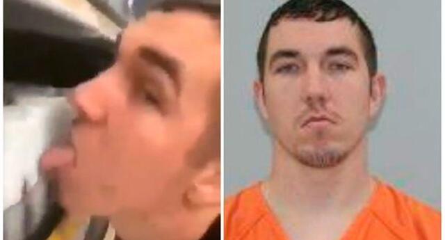 Cody Lee Pfister, de 26 años, acusado de amenaza terrorista en segundo grado en Estados Unidos.