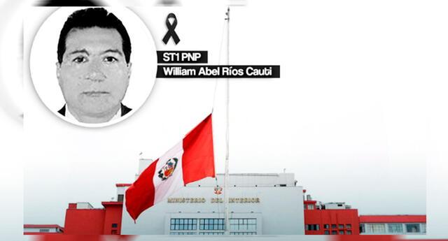 William Abel Ríos Cauti, ascendido a suboficial brigadier PNP.