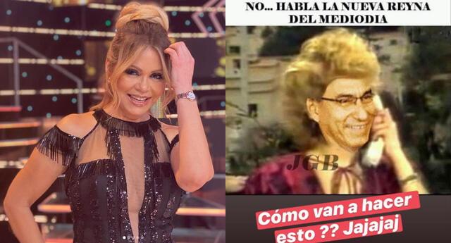 Gisela Valcárcel se ríe de memes donde la comparan con Martín Vizcarra