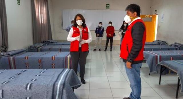 Instalaron albergue en Ayacucho. Foto: Andina