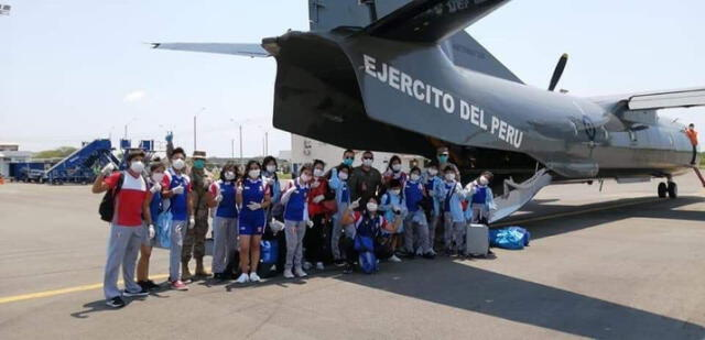 Los judokas contentos por el apoyo recibido del Ejército Peruano.