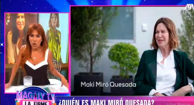 """Magaly Medina a Maki Miró Quesada: """"Ella toda la vida estuvo viviendo entre algodones"""""""