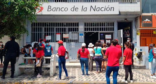 El Banco de la Nación será una de las empresas bancarias donde se podrá cobrar el bono de 380 nuevos soles.