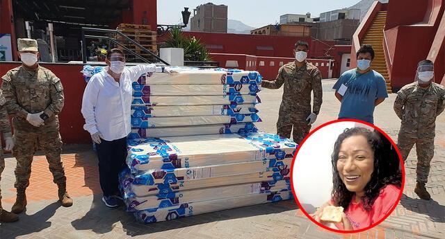 Bartola prepara diez platos de almuerzo para médicos y enfermeras de los hospitales más alejados de Lima.