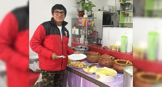Fernando Armas cocina en tiempos de cuarentena.
