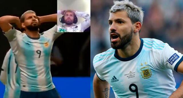 El Kun erró un gol siendo él mismo el protagonista en FIFA 20.