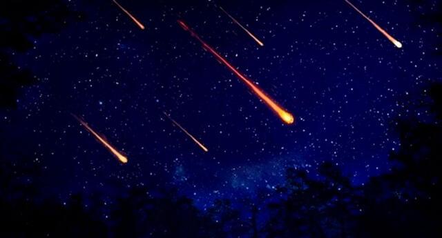 Lluvia de meteoros.
