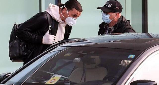Zlatan es captado en el aeropuerto de Malpensa