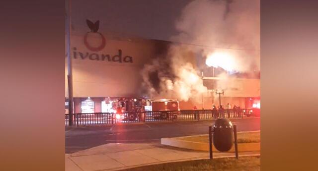 Incendio en el supermercado Vivanda