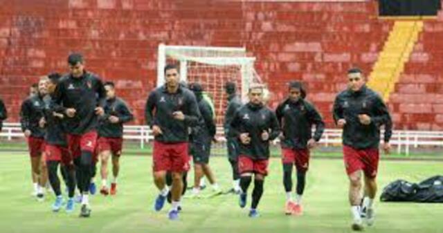 El entrenamiento de  Melgar de Arequipa.