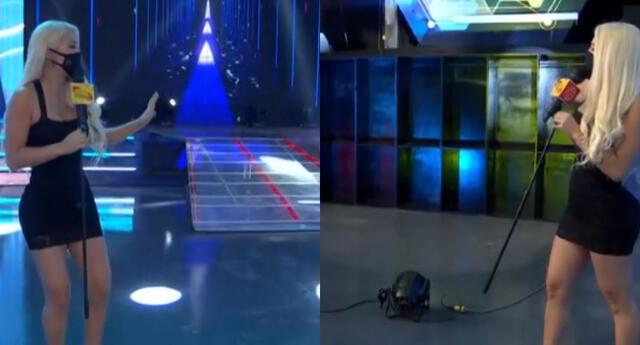 Sheyla Rojas presenta las nuevas instalaciones del set de Esto es guerra.