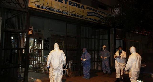 Hombre se quitó la vida al interior de la ferretería donde trabajada. Foto: Perú21