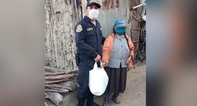 La Comisaría Rinconada entregó productos a personas de bajos recursos