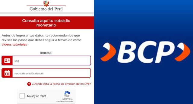 Bono BCP LINK: cómo saber si soy beneficiario del bono yo me sumo 760 soles