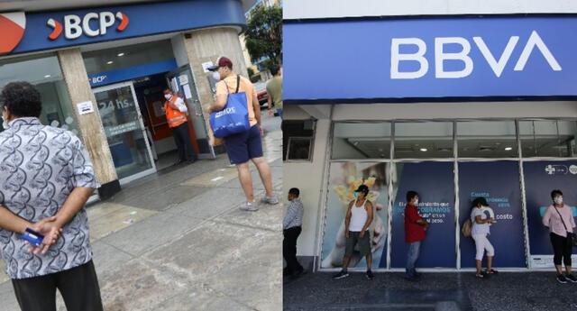 Horario de atención de bancos BCP y BBVA