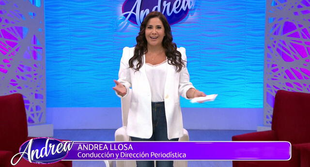 """Andrea Llosa feliz porque vuelve con sus programas """"Nunca más""""y """"Andrea"""""""