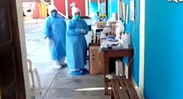 Pacientes de coronavirus son atendidos en colegio.