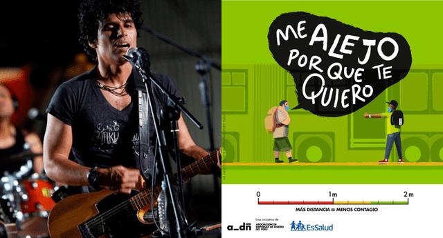 El cantante se sumó a la campaña 'Me alejo porque te quiero' y pidió a los peruanos acatar las medidas para detener el contagio de coronavirus.