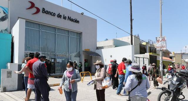 El bono independiente de 380 soles será cobrado solo en el Banco de la Nación.