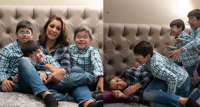 Karla Tarazona dice que es muy feliz con sus hijos.
