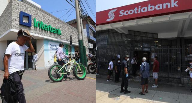 Horario de atención bancos en cuarentena Perú: Interbank y Scotiabank