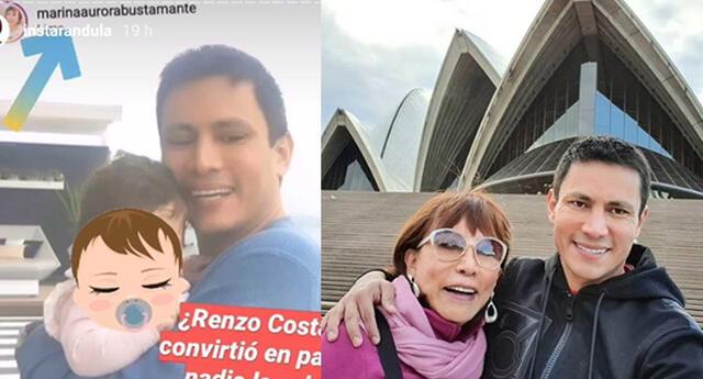 ¿Renzo Costa tendría un hijo?
