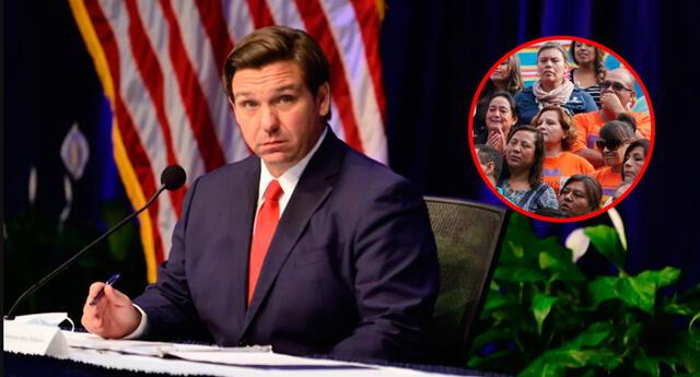 Ron DeSantis, gobernador de La Florida.