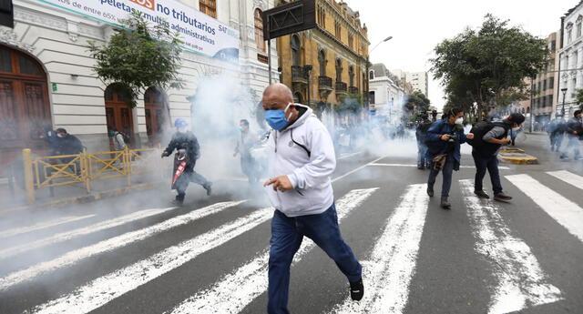 Protestas en Cercado de Lima