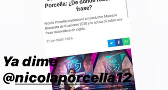 Guerreros 2020: Mauricio Barcelata responde a Nicola Porcella sobre la frase: ¡Ya dime!