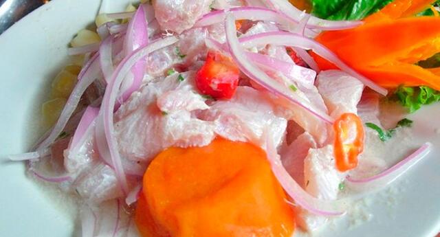 Ceviche, el plato bandera del Perú.