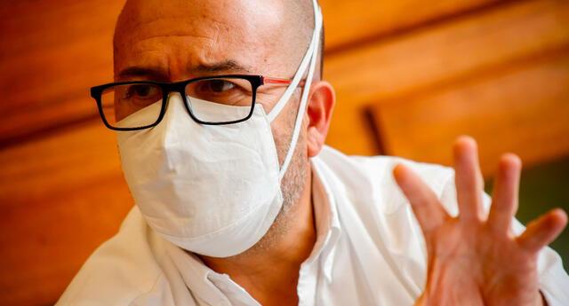 Victor Zamora asegura que tenemos que usar protectores faciales