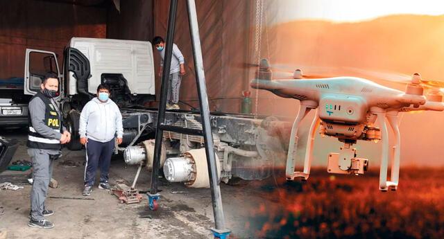 Gracias a la ayuda tecnológica de un drone, lograron ubicar al volquete casi desmantelado al interior de una cochera.
