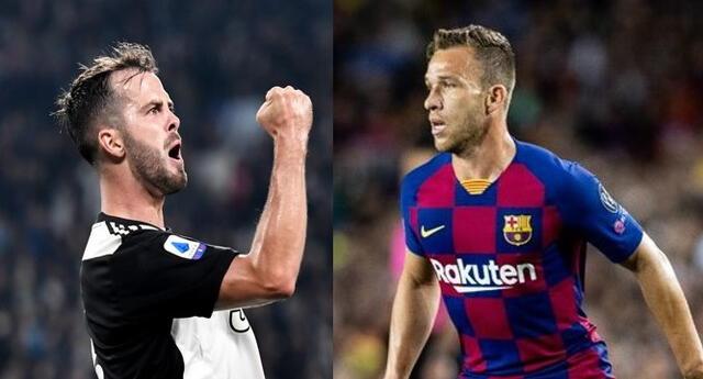 Barcelona y Juventus cambiaron figuritas en el mediocampo