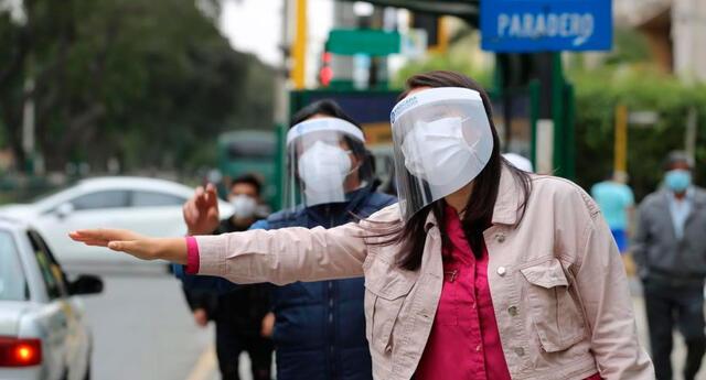 Uso de protector facial es muy importante