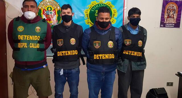 Los detenidos en la sede policial