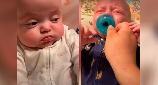 La reacción de esta bebé al ver a su hermano llorar te sacará una sonrisa