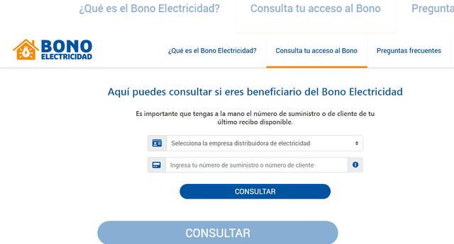 Osinergmin pone a tu disposición la lista de beneficiarios del Bono Electricidad.