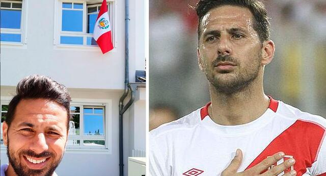 Pizarro muestra bandera peruana en Alemania.