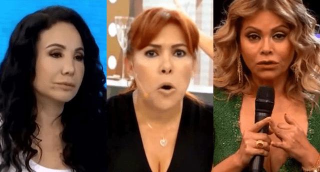 """Janet Barboza llamó """"cuello de pavo"""" y """"sapo envidiosa"""" a Magaly Medina y aseguró que habla de Gisela Valcárcel porque """"su rating está en picada""""."""