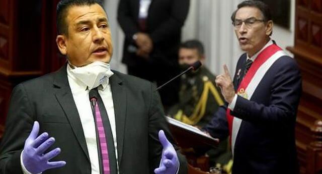 Congresista Jhosept Pérez Mimbela se disculpó con el mandatario Martín Vizcarra.