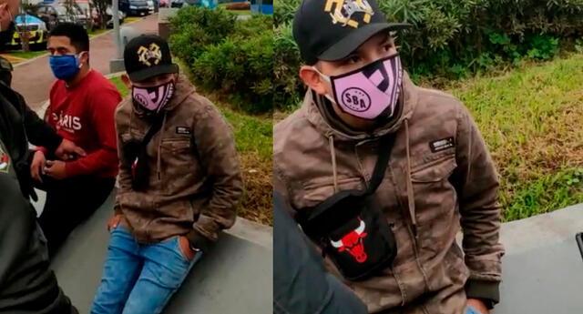 Ladrón intentó escapar de la policía escupiendo