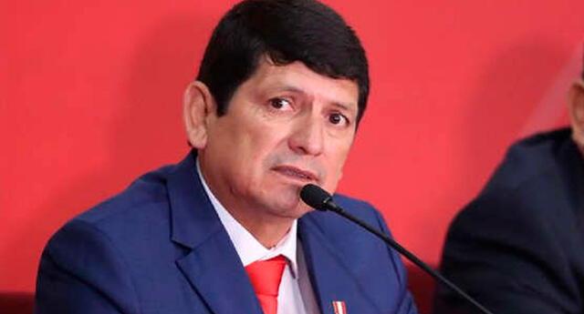 Agustín Lozano, presidente de la FPF.