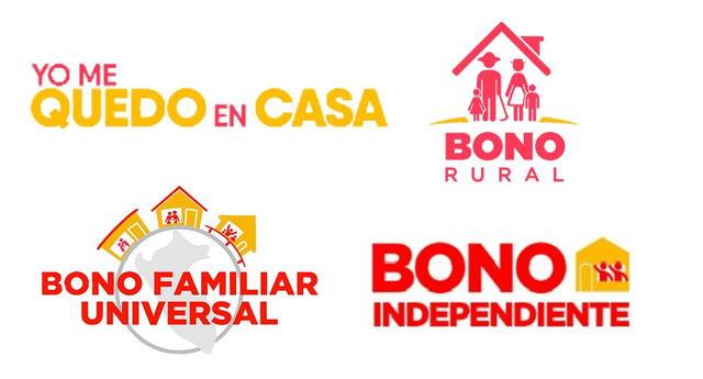 Bono Yo me quedo en casa, bono Rural, bono Independiente y Bono familiar universal