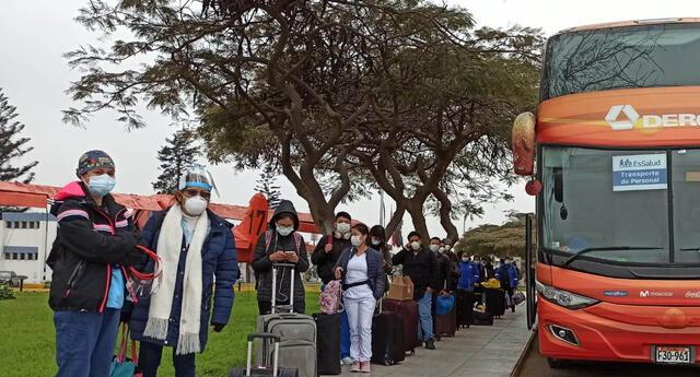 Estos profesionales están llevando medicinas, balones de oxígeno y toneladas de EPPs a dicha región. (Foto: Vanessa Trebejo/URPI/GLR).
