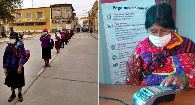 Bono de 760 soles es cobrado por miles de ciudadanos en provincias gracias a las coordinaciones del Midis.