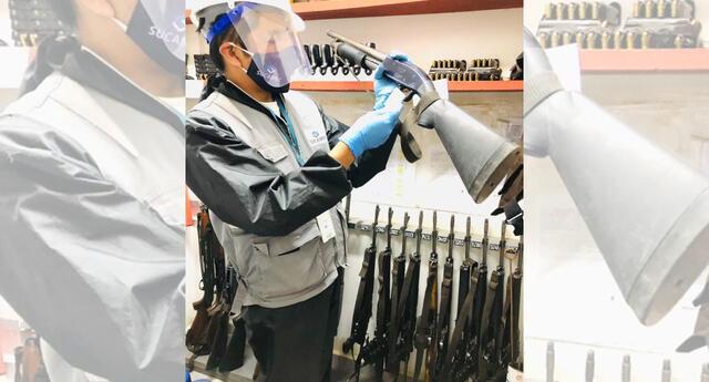 Incautan armamento en Huancayo.